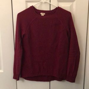 J Crew maroon sweater